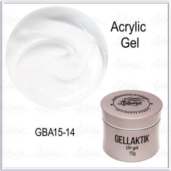 GELLAKTIK ACRYLIC GEL №14 White Ultra, 15гр