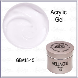 GELLAKTIK ACRYLIC GEL №15 White Soft, 15гр