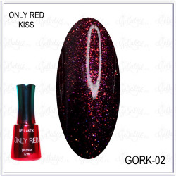 "Гель-лак GELLAKTIK ""ONLY RED KISS"" №02, 12мл"