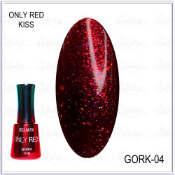 "Гель-лак GELLAKTIK ""ONLY RED KISS"" №04, 12мл"