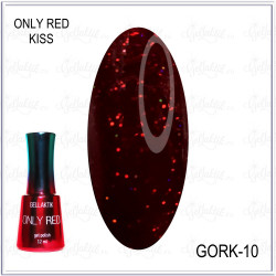 "Гель-лак GELLAKTIK ""ONLY RED KISS"" №10, 12мл"